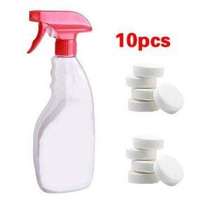 1/5 / 10PCS Multifonctionnel Effervescent Spray Cleaner Set Nettoyant pour la Maison Nettoyant pour la Maison, ne Contient Pas d'agents fluorescents, enzymes biologiques à la décontamine