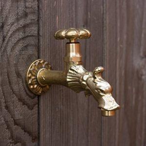 antikas–Robinet pour fontaine, Gargouille dragon tête en laiton, nostalgie pur 1/2«