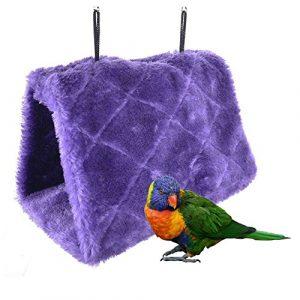 Bello Luna Purple Perroquet Nid d'Oiseau Nid d'Oiseau Hiver Chaud Hamac Suspendu Cave Cage Peluche Heureux Hut Tente Lit (S)