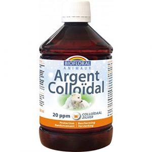 Biofloral Argent Colloïdal 20 PPM Naturel Antioxydant pour Chien 500 ml
