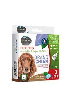 Biovetol – Pipettes Anti-puce pour Grand chien (+30kg) – 3x 6ml