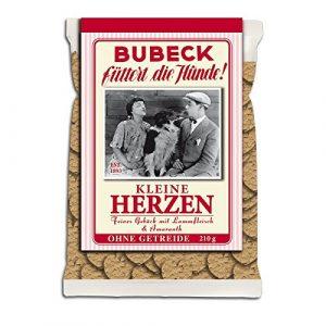 Bubeck petits cœurs | 210g pour Chien gâteau céréales frei| chien Biscuit | gâteau pour chien sans céréales | Friandises bien sûr | Complément alimentaire | hundekekse | trockenfutter | Friandises | chien biscuits