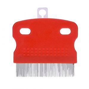 Bulary Professional Peigne de toilettage Poils d'animaux/fourrure Peigne Outil de toilettage pour chiens/chats (couleur aléatoire)