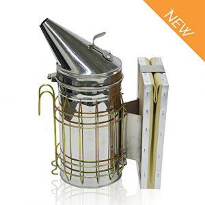 Caisson d'enfumage pour ruche en acier inoxydable 27,9 cm avec nouveau design et protection contre la chaleur