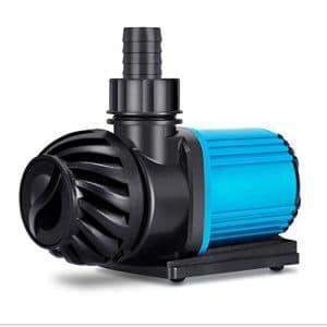 DC Fréquence Conversion Pompe Submersible 20 Réglage De La Vitesse – Ultra Silencieux Dc24v Basse Tension Fréquence Variable Pompe, Ac220v Aquarium Circulation Pompe Poisson Étang Pompe,12000L