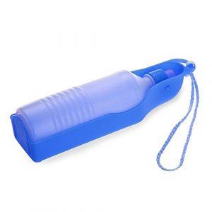 Dcolor500ml Bleu Gourde avec bouteille distributeur d'eau Portable pour Chien Chat