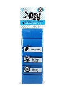 Dog Bag Sac de transport pour chien Cravate Poignée pour animal domestique Dispensable Sacs sur un rouleau, Bleu