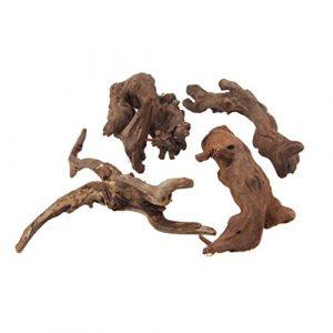 Emours Naturel en bois flotté branches reptiles Décoration d'aquarium assorties Taille, petite, 4pièces