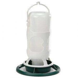 Fauna Bird Products Omnia Fauna Abreuvoir avec Bouteille Plastique pour Oiseau Vert/Blanc 23 x 28 cm