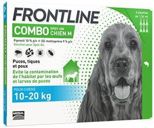 FRONTLINE Combo Chien – Anti-puces anti-tiques chien – 10-20kg – 6 pipettes