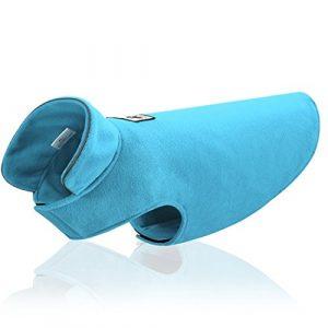 GWELL Chien Veste Polaire Chaude Hiver Vêtements Veste Gilet Petites Grandes Chien Automne Printemps Couleur Taille au Choix Bleu XS