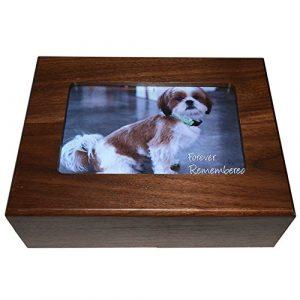Imaginez cette Boîte de cadre photo Urne funéraire pour animal, 8par 6en 7cm