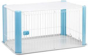 IRIS Cage métallique pour chiens toit grillagé