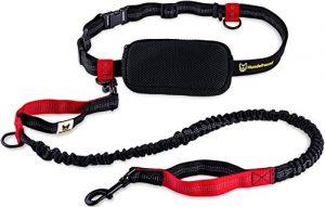Laisse mains libres pour chien | Élastique 120 cm à 200 cm pour le jogging avec sac, ceinture abdominale