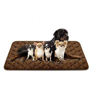 Tapis doux pour chien, Coussin de luxe et durable, Tapis antidérapant et lavable de chien Hero Dog (brun, XXL)