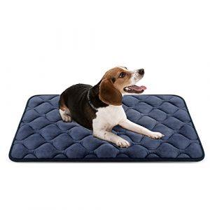 Tapis doux pour chien, Coussin de luxe et durable, Tapis antidérapant et lavable de chien Hero Dog (Gris, M)