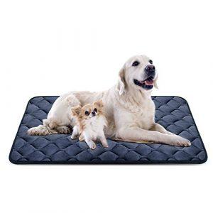 Tapis doux pour chien, Coussin de luxe et durable, Tapis antidérapant et lavable de chien Hero Dog (Gris, XL)