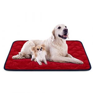 Tapis doux pour chien, Coussin de luxe et durable, Tapis antidérapant et lavable de chien Hero Dog (Rouge, XL)