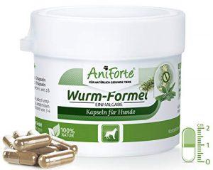 AniForte Formule de Ver 10 Comprimés pour Chiens, Naturel et Efficace, Aux actifs naturels de plantes