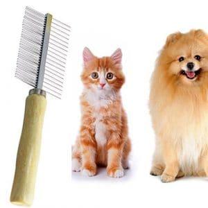Artistic9(TM) multi-usages en acier inoxydable Cobm et épais Cheveux pilules Spray ôter fourrure Râteau Brosse de toilettage pour chien chat Animal domestique Cheveux longs