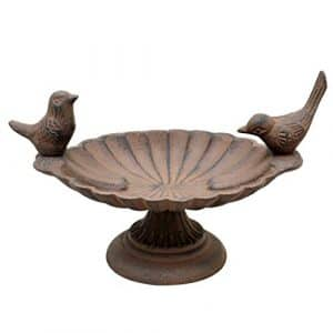 Bain d'oiseau en fonte inséparables 18cm–Welcome to the Birds vers votre jardin CE Printemps.
