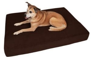 Big Barker 7 Pillow Top Orthopedic Dog Bed – Giant Size – 60 X 48 X 7 Inches – Chocolate – For Large and Extra Large Breed Dogs (Sleek Edition) by Big Barker