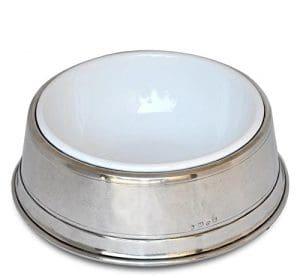 Cosi tabellini Gamelle pour chien (étain et acier), Ø 18/23,5cm, H 7,5cm