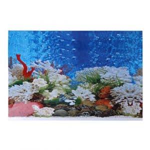 Daxibb Aquarium Poster double face en PVC Fond Fish Tank Décor Paysage, PVC, 42*30 cm