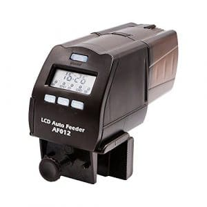 Eshen Distributeur Automatique de Nourriture pour Poissons avec Ecran LCD et Orientable Contrôle de Portion pour Poisson