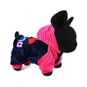 Espeedy Mode Hiver Corail en velours pour animal domestique Chien Vêtements Petit Grand Chien Manteau vestes pour chihuahua Teddy