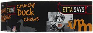 Etta Says Crunchy Duck Chews Black Rawhide Tasty Chewable Dog Treats 36Pk 4″