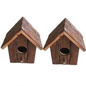 Heritage 20832rustique en bois nidification Nichoir Nichoir Petits oiseaux mésange bleue Robin Sparrow 2 x 20832 Bird Boxes