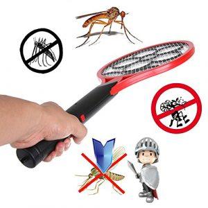 Millent Mouche électrique moustique tueur moustique main raquette moucheron antiparasitaire repousser insectifuge maison anti moustique été fournitures multifonctionnel sécurité réseau triple moucheron réseau