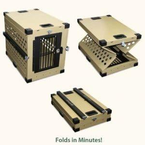 Pliable, en Aluminium résistant Cage à partir de Grain Valley (Grande (35L X 25W X 29H)) par Grain Valley Chien d'alimentation