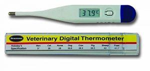 Thermomètre digital vétérinaire–avec gratuit Hobday de Spec Chart