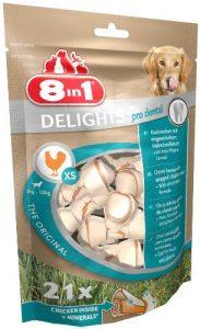 8 in 1 Delights Dental XS – Os de bœuf à Mâcher pour Chien de Petite Taille – Enrichi en minéraux – Longue durée – Viande à cœur – Prodental Limite le Tartre – Sans céréales Colorant Arôme Artificiel – 21 pièces