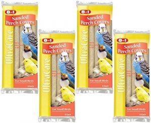8en 1Pet Products Sablée Bird perchoirs Couvertures, Petite–24Total (Lot DE 4avec 6par lot)