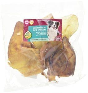 Aime Oreilles Assortiment en Porc et en Bœuf pour Chien – Lot de 6