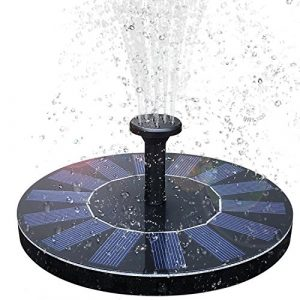 baonuor Solar Fontaine, pompe de bassin solaire avec 1.4W monocristallin panneau solaire Pompe solaire pompe à eau solaire flottant fontaine pour étang ou fontaine de jardin oiseau Récipient de salle de bains en forme de poisson