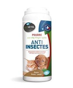 Biovetol – Poudre Anti-insectes 100 g – Anti-puce pour chat et chien