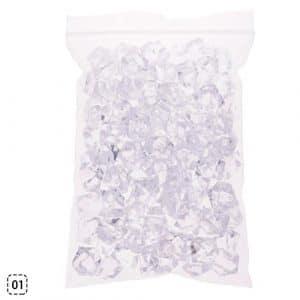Calistouk 60g de pierres de style cristal coloré pour décoration d'aquarium