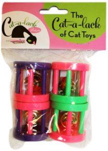 Cat-A-Lack 4pièces Rolling Bell Balles de cage pour animaux domestiques