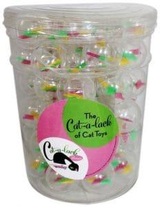 Cat-A-Lack 56-piece Twirly boules en pot pour animaux de compagnie