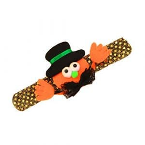 Coomir Halloween Dragonne pour Enfant avec Bracelet à LED et Bracelet Festival Cartoon, Hat Pumpkin