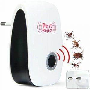 Cristoferv Insectifuges ultrasoniques et électromagnétiques pour souris contre les impacts d'insectes, rats, mouches, puces, hélices électrodynamiques à ultrasons pour les acariens, anti-moustiques, sûrs et non toxiques