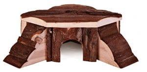 Croci Maison en Bois avec 2 Tobaggans pour Petits Animaux 35x15x37 cm