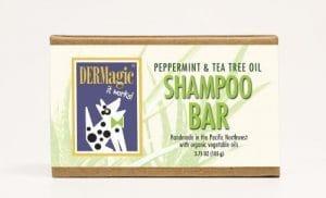 dermagic Menthe Poivrée/Huile Arbre à thé Shampooing Bar, 3,75Oz, certifié BIO par dermagic de soin de la peau pour animaux, Inc.