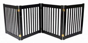 dynamique Accents quatre Panneau Petite EZ Pet Gate/Barrière pour chien–Acajou