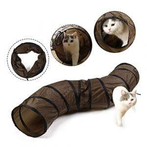 EONO Essentials Chat Chat Tunnel Pliable manière en Forme de S des Trous de Peek Kitton Jouer Jouet Tube Fun Kitty Rabbit Chiot Furet