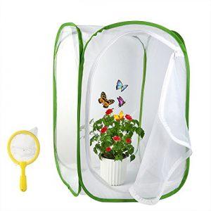 FEPITO 2Pcs Insecte Papillon Habitat Terrarium Kids Bug Catcher Net, 23,6 Pouces de Hauteur